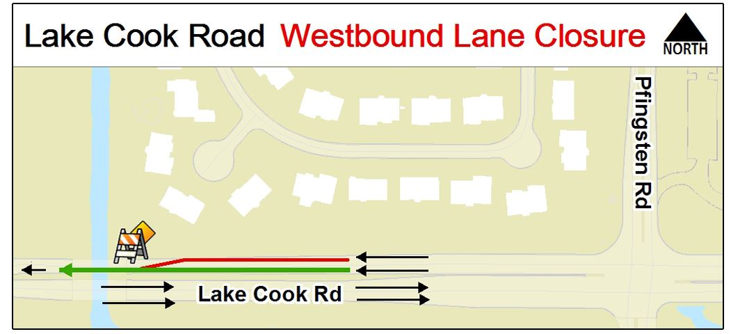 Lake Cook Road Map
