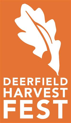 Deerfield Harvest Fest vertical orange logo.art 8-27-15